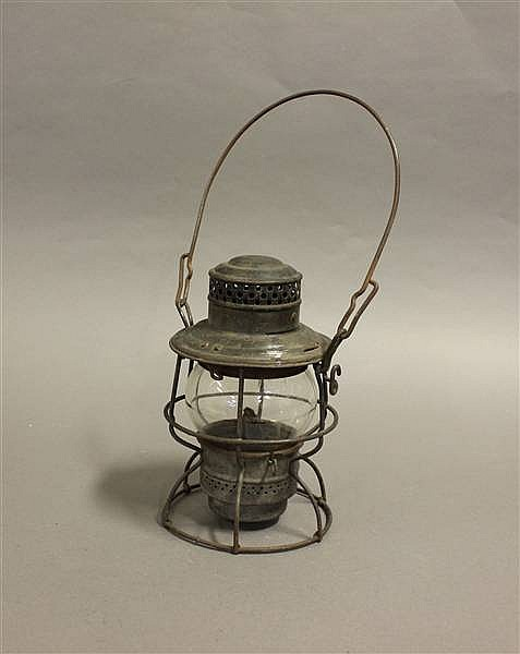 RAILROAD LANTERN N&WRY KERO CLEAR CAST GLOBE