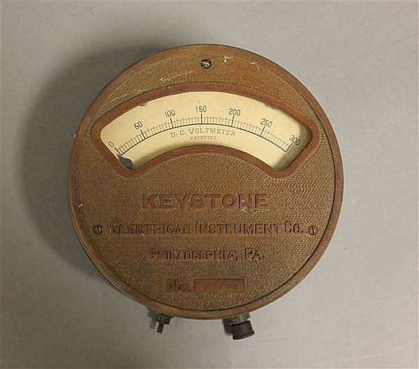 RAILROAD METER KEYSTONE ZERO TO 300 VOLT DC