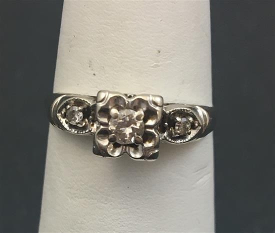 Stamped 14k white gold approx 12 ct round brilliant diamond for Diamond stamp on jewelry