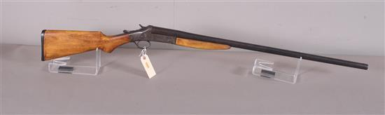 VOLUNTEER  ARMS CO. 16 GAUGE SINGLE SHOTGUN SN: 5370, CRACKED FOREARM