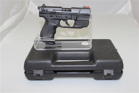 WALTHER (S&W) MODEL P22 .22 CALIBER PISTOL SN: L041848, INCLUDING 2 CLIPS, LASER AND ORIGINAL HARD CASE