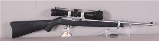 STURM RUGER MODEL 10/22 CARBINE .22LR CALIBER RIFLE SN: 258-10105, INCLUDING BANNER SCOPE