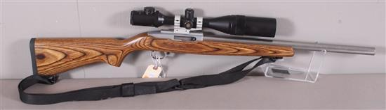 RUGER MODEL 10/22 .22LR CALIBER SEMI-AUTO RIFLE SN: 252-50733, INCLUDING 3 X 12 POWER SCOPE AND SLING