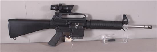 ARMA LITE MODEL AR-10A4 7.62 MM CALIBER SEMI-AUTO RIFLE SN: US59446 INCLUDING STAINLESS BARREL, TRIJICON ACOG SIGHT