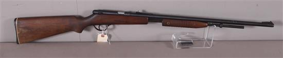 NOBLE MODEL 235 .22 LR CALIBER PUMP RIFLE SN: NONE, MISSING MAGAZINE TUBE, WATER DAMAGE TO BUTT STOCK
