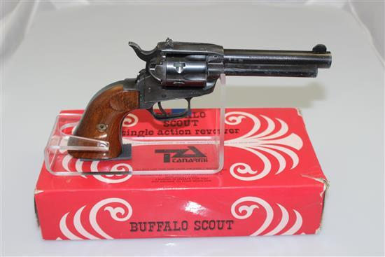 F.LLI TANFOGLIO MODEL TA76 .22 LR CALIBER REVOLVER SN: D09448, INCLUDING ORIGINAL BOX