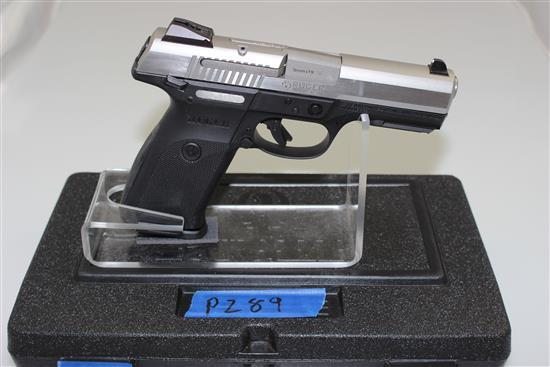 RUGER MODEL SR9 9MM CALIBER SEMI-AUTO PISTOL SN: 330-04380, INCLUDING 3 MAGAZINES AND ORIGINAL BOX