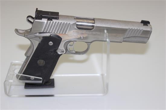 KIMBER MODEL STAINLESS GOLD MATCH II .45 CALIBER SEMI-AUTO PISTOL SN: K081796
