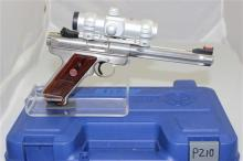 RUGER MODEL MKIII HUNTER .22 LR CALIBER SEMI-AUTO PISTOL SN: 229-04338, INCLUDING ACCU DOT SCOPE NON-MATCHING BOX
