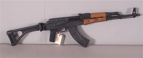 ROMARM MODEL WASR-10 7.62 X 39 MM CALIBER SEMI-AUTO RIFLE SN: AM-1323-82, FOLDING STOCK