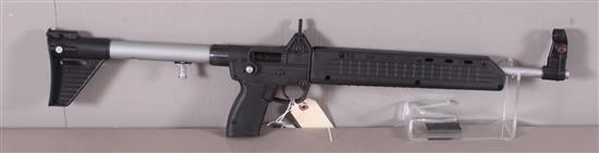 KEL-TEC MODEL SUB2000 9 MM CALIBER SEMI-AUTO RIFLE SN: E4U16, MAGAZINE MISSING