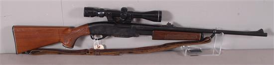 REMINGTON MODEL 760 30-06 CALIBER PUMP RIFLE SN: B7372596, INCLUDING TASCO SCOPE, SLING AND RUSTED MAGAZINE
