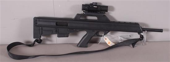 B.F.I. MODEL M17S .223-5.56 MM CALIBER SEMI-AUTO RIFLE SN: P04137, INCLUDING TASCO PRO POINT SCOPE AND SLING