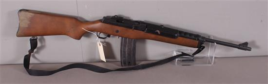 RUGER MODEL MINI-30 7.62 X 39 CALIBER SEMI-AUTO RIFLE SN: 189-29390, INCLUDING SLING, WATER DAMAGE TO STOCK