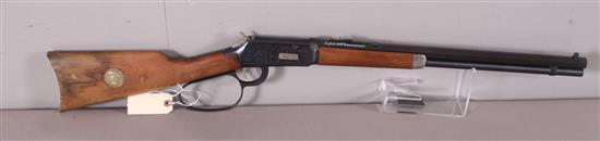 WINCHESTER MODEL 94 .30-30 CALIBER LEVER RIFLE SN: WC15535, BUFFALO BILL COMMEMORATIVE, WATER DAMAGE TO STOCK