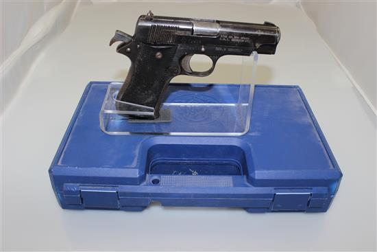 STAR MODEL S.A. 9MM CALIBER SEMI-AUTO PISTOL SN: SBM2517, INCLUDING NON-MATCHING HARD CASE, MISSING MAGAZINE