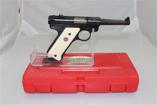 RUGER MODEL NRA WILLIAM RUGER ENDOWMENT .22 LR CALIBER SEMI-AUTO PISTOL SN: NRA-02318, INCLUDING ORIGINAL BOX AND 2 MAGAZINES