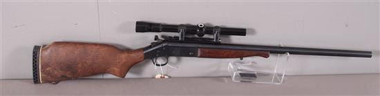 HARRINGTON & RICHARDSON MODEL SB2 ULTRA .243 WIN CALIBER SINGLE SHOT RIFLE SN: HM279897, INCLUDING SEARS SCOPE