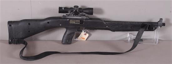HI-POINT MODEL 4095 .40 S&W CALIBER SEMI-AUTO RIFLE SN: H09289, INCLUDING FAMOUS MAKER SCOPE