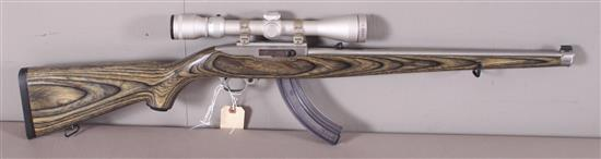 RUGER MODEL 10/22 .22 LR CALIBER SEMI-AUTO RIFLE SN: 241-12810, INCLUDING TASCO SCOPE