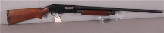 SEARS MODEL 200 12 GAUGE PUMP SHOTGUN SN: P142357, WATER DAMAGE TO BUTT STOCK