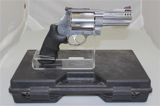 SMITH & WESSON MODEL 500 .500 S&W MAGNUM CALIBER REVOLVER SN: DBA5801, INCLUDING NON-MATCHING HARD CASE
