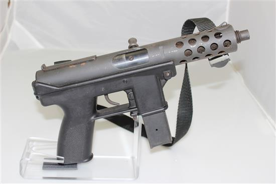 INTRATEC MODEL TEC-9 9MM CALIBER SEMI-AUTO PISTOL SN: 067781, INCLUDING SLING
