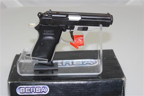 BERSA MODEL THUNDER 380 .380 CALIBER SEMI-AUTO PISTOL SN: 787637, INCLUDING ORIGINAL BOX