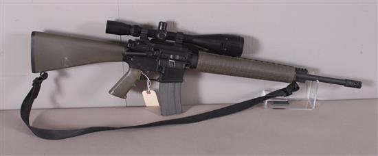 ARMALITE MODEL M15A4 5.56 MM CALIBER SEMI-AUTO RIFLE SN: US114929, INCLUDING BSA SCOPE AND SLING