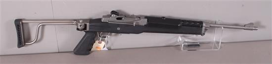 RUGER MODEL MINI 14 .223 CALIBER SEMI-AUTO RIFLE SN: 186-57998, FOLDING STOCK, MISSING MAGAZINE