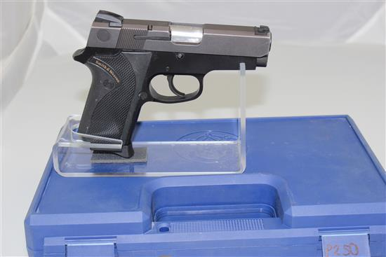 SMITH & WESSON MODEL 908 9MM CALIBER SEMI-AUTO PISTOL SN: TDP9704, INCLUDING ORIGINAL HARD CASE