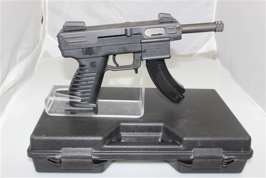 INTRATEC MODEL TEC-22 .22 LR CALIBER SEMI-AUTO PISTOL SN:  077502, INCLUDING HARD CASE