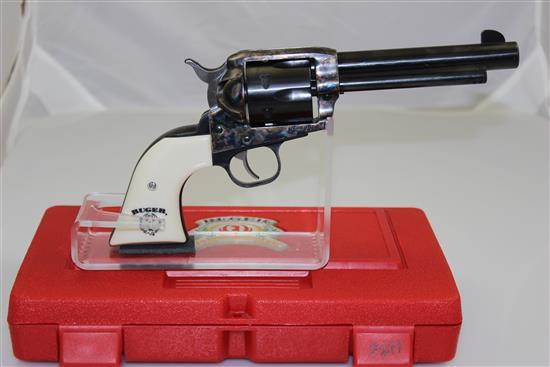 RUGER MODEL VAQUERO .45 LC CALIBER REVOLVER SN: 57-92053, INCLUDING ORIGINAL HARD CASE