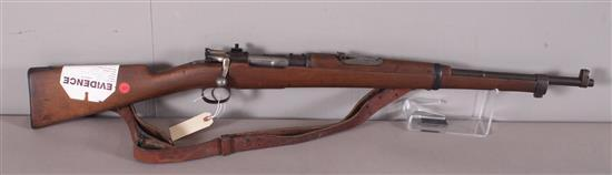 MAUSER 7.65 X 53 MM CALIBER BOLT RIFLE SN: 8590, INCLUDING SLING, DRILLED AND TAPPED