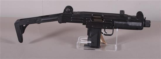 ACTION ARMS LTD. UZI MODEL B 9MM CALIBER SEMI-AUTO RIFLE SN: SA44571, FOLDING STOCK AND MISSING MAGAZINE AND BARREL