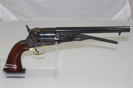 COLT .44 CALIBER MZ REVOLVER SN: 217496, BROKEN LOADING LEVER, DOES NOT NEED CALLED IN **********