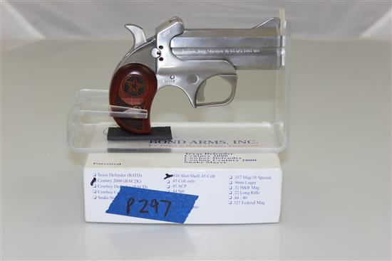 BOND ARMS MODEL CENTURY 2000 .45 LC / 410 GAUGE DOUBLE DERRINGER SN: 50287, INCLUDING ORIGINAL BOX