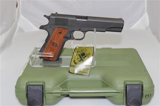 SPRINGFIELD ARMORY MODEL 1911-A1 .45 AUTO CALIBER SEMI-AUTO PISTOL SN: WW88967, INCLUDING ORIGINAL BOX AND HOLSTER