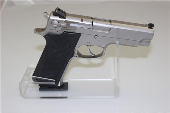 SMITH & WESSON MODEL 4566 .45 AUTO CALIBER SEMI-AUTO PISTOL SN: TYY8466