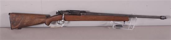 U.S. SPRINGFIELD MODEL 1903 30-06 CALIBER BOLT RIFLE SN: 1232681, SPORTER, DRILLED AND TAPPED, WATER DAMAGE TO LOWER BUTT STOCK