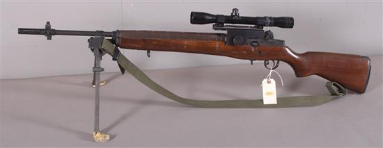 SPRINGFIELD ARMORY MODEL M1A 7.62 X 51 CALIBER SEMI-AUTO RIFLE SN: 053909, INCLUDING REDFIELD SCOPE, BI-POD AND SLING