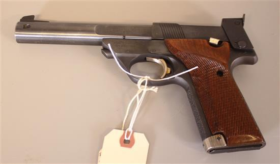 HIGH STANDARD MODEL SUPERMATIC TROPHY .22 LR CALIBER SEMI-AUTO PISTOL SN: ML59822