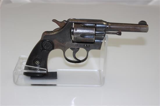 COLT ARMY SPECIAL .32-20 CALIBER REVOLVER SN: 497344, LIGHT RUST