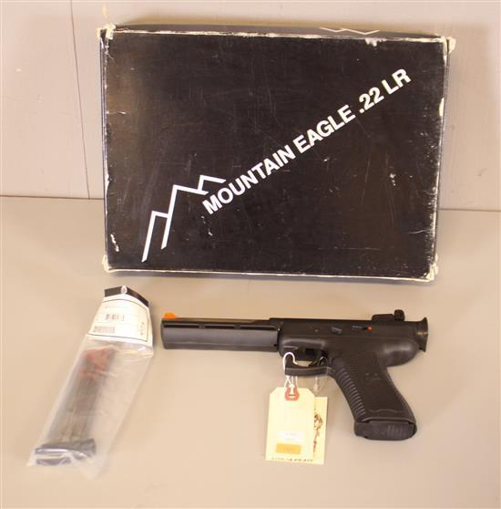 MAGNUM RESEARCH, INC. MODEL MEP 2216 MOUNTAIN EAGLE .22 LR PISTOL SN: M6-92-23694, INCLUDING 2 MAGAZINES AND ORIGINAL BOX