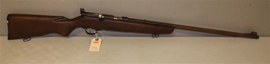MAKER UNKNOWN .22 CALIBER BOLT RIFLE SN: NONE, MISSING MAGAZINE, VERY RUSTED