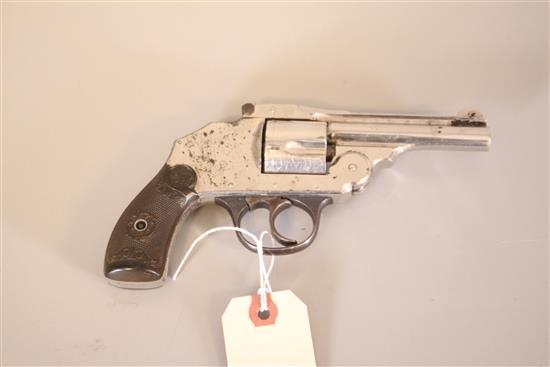 IVER JOHNSON MODEL TOP BREAK .38 CALIBER REVOLVER SN: 33575, SOME FINISH LOSS