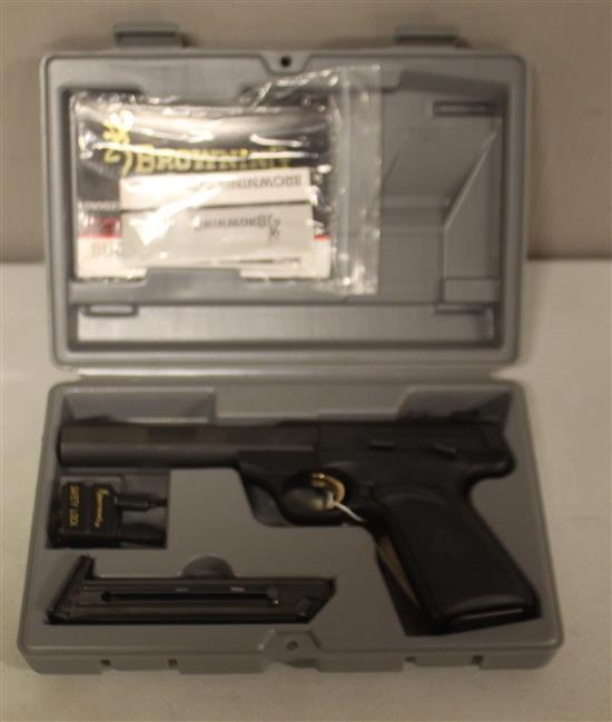 BROWNING ARMS CO. MODEL BUCK MARK, .22 CALIBER SEMI-AUTO PISTOL SN: 515NP10798, ORIGINAL CASE, 2 MAGAZINES