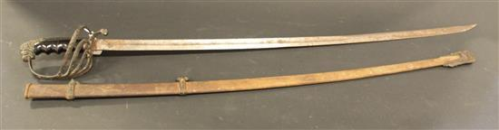 M1872 CAVALRY SWORD MARKED