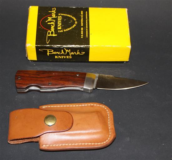 BENCH MARK WOOD HANDLE ROLOX DIAMOND BACK WITH CASE AND BOX
