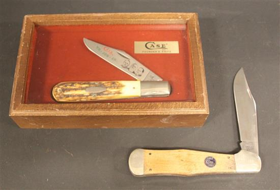 CASE XX FOUNDERS KNIFE 5143 SSP AND CASE XX TESTED CENTENNIAL SERIAL #1858